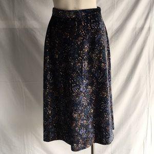 Kathy Manning vintage velvety Cotton floral skirt